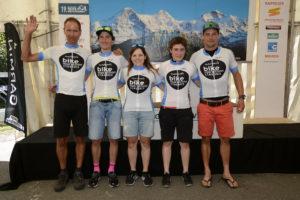Siegerehrung der 19. Eiger Bike Challenge am Sonntag, 14. August in Grindelwald. Foto Martin Platter